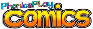 Phonics Play Comics Logo